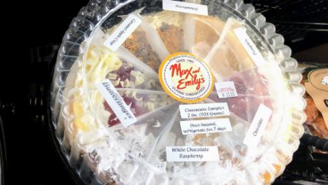 Max & Emily's Classic Cheesecake sampler