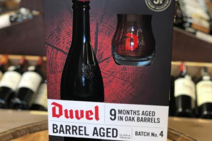 Duvel Barrel Aged beer as a gift set