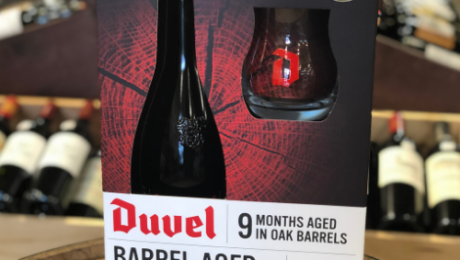 Duvel Barrel Aged beer as a gift set